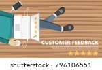 rating on customer service... | Shutterstock .eps vector #796106551