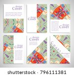 set of a4 cover  abstract... | Shutterstock .eps vector #796111381