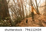 young woman at forest | Shutterstock . vector #796112434