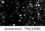 white snowflakes on black... | Shutterstock .eps vector #796114084