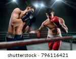 boxing sparring fight | Shutterstock . vector #796116421