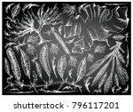 sea vegetables  illustration of ... | Shutterstock .eps vector #796117201