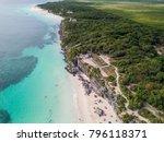 ruins of tulum  mexico... | Shutterstock . vector #796118371