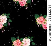 seamless floral pattern with... | Shutterstock .eps vector #796122799
