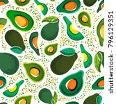 vector seamless pattern with... | Shutterstock .eps vector #796129351