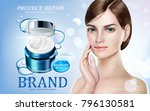 skin care ads  pretty model in...   Shutterstock .eps vector #796130581