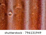 old zinc surface background the ... | Shutterstock . vector #796131949
