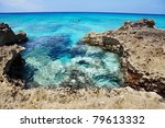 Man Explores The Reef Off The...