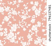 rose illustration pattern.   Shutterstock .eps vector #796137481