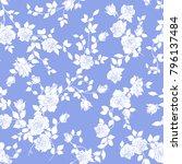 rose illustration pattern. | Shutterstock .eps vector #796137484