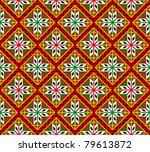 Norwegian seamless traditional bunad dress pattern - stock vector