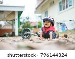 asian boy about 2 years is... | Shutterstock . vector #796144324