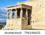 the porch of the caryatids or... | Shutterstock . vector #796146631