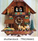 cuckoo clock from the black... | Shutterstock . vector #796146661