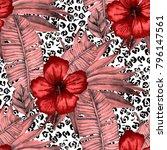watercolor seamless pattern... | Shutterstock . vector #796147561