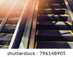 images of escalators used to... | Shutterstock . vector #796148905