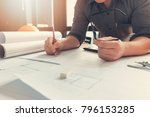 engineer and architect concept  ... | Shutterstock . vector #796153285