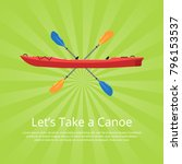let's take a canoe banner with... | Shutterstock .eps vector #796153537