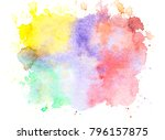 abstract watercolor background... | Shutterstock . vector #796157875