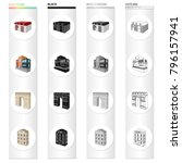 house  residential  building ... | Shutterstock .eps vector #796157941