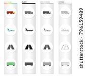 transportation  equipment ... | Shutterstock .eps vector #796159489
