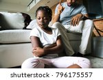 father disciplining his daughter | Shutterstock . vector #796175557