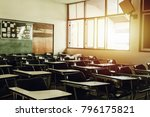Classroom In Background Withou...