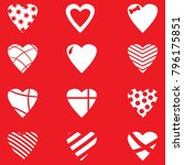 set of valentine day hearts | Shutterstock .eps vector #796175851