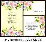romantic invitation. wedding ... | Shutterstock .eps vector #796182181