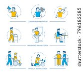 rehabilitation vector human man ... | Shutterstock .eps vector #796183285