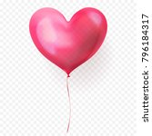 heart balloon isolated glossy... | Shutterstock .eps vector #796184317