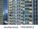 residential apartment windows... | Shutterstock . vector #796185811