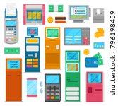 payment machine vector pos... | Shutterstock .eps vector #796198459