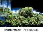 nugs of weed marijuana purple    Shutterstock . vector #796200331