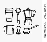 coffee equipment vector bundle... | Shutterstock .eps vector #796213654