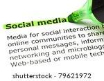 definition of social media... | Shutterstock . vector #79621972