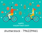 happy valentine's day. enamored ... | Shutterstock .eps vector #796229461