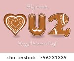 love you too. gingerbreads... | Shutterstock .eps vector #796231339