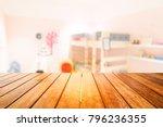 wooden board empty table in... | Shutterstock . vector #796236355