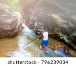 asian man  photographer shoot a ... | Shutterstock . vector #796239034