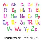colorful english alphabet for... | Shutterstock . vector #796241071