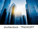 architectural complex against... | Shutterstock . vector #796242397