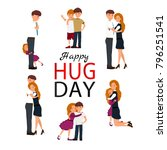 happy hug day background with...   Shutterstock .eps vector #796251541