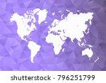 world map shape vector... | Shutterstock .eps vector #796251799