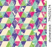 vector seamless pattern of... | Shutterstock .eps vector #796252174