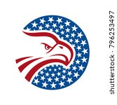 american eagle logo template | Shutterstock .eps vector #796253497