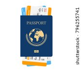 international passport with... | Shutterstock .eps vector #796255741
