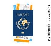 international passport with... | Shutterstock .eps vector #796255741