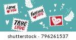 set love mail  hand drawn...   Shutterstock .eps vector #796261537