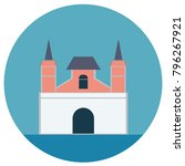 building round icons. vector... | Shutterstock .eps vector #796267921